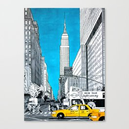 New York. Empire State Building. Canvas Print