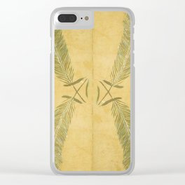 Full Peacock Feathers Clear iPhone Case