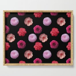 Pattern with camellias Serving Tray