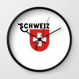 Schweiz (Schweizerische Eidgenossenschaft) Wall Clock