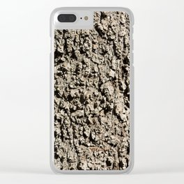 TEXTURES -- Western Sycamore Bark Clear iPhone Case