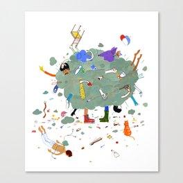 Fight Cloud Canvas Print