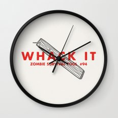 Whack it - Zombie Survival Tools Wall Clock
