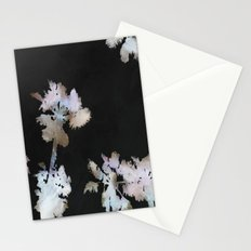 Tropical Palms On Black Background Stationery Cards