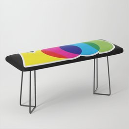 Mood Meme Colorful Geometric Typography Bench