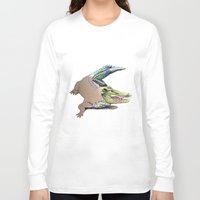 crocodile Long Sleeve T-shirts featuring Crocodile by Jeanne Hollington