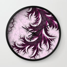 Feather Duster Wall Clock