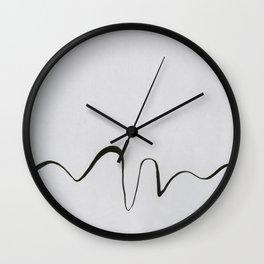 Line Work I Wall Clock
