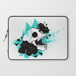 Skull 'n' Roses (ScribbleNetty-Colored) Laptop Sleeve