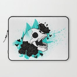 Skull 'n' Roses (ScribbleNetty-Colored) Laptop Sleeve