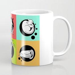 Rainbow Cat Yoga Coffee Mug