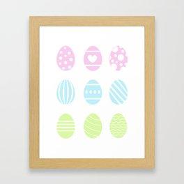 COLORFUL EASTER EGGS Framed Art Print