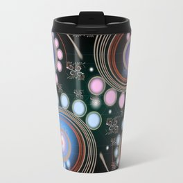 Light Rotate On Spiral Orbit Travel Mug