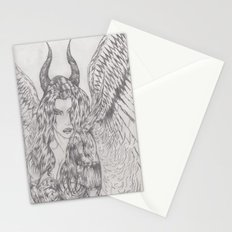angel or demon Stationery Cards