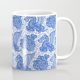 Pegasus Pattern Blue Coffee Mug