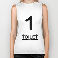 toilet Biker Tanks featuring TOILET CLUB #1 by Toilet Club