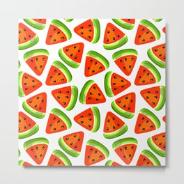 Watermelon seamless pattern Metal Print