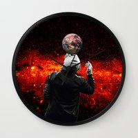 football Wall Clocks featuring Football by Cs025