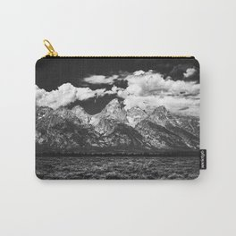 Mountain Summer Escape - Black and White Tetons Carry-All Pouch