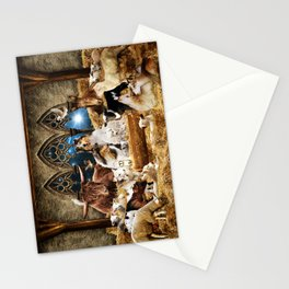 Magic Animal Christmas Nativity Scene with Rough Collies Stationery Cards