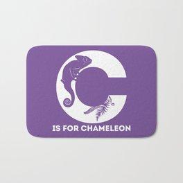 C is for Chameleon - Animal Alphabet Series Bath Mat