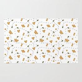 honey bee pattern Rug