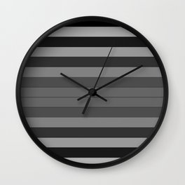 Black and Gray Stripes Wall Clock