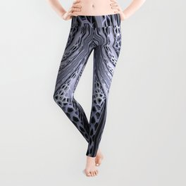 Crackles swing, fractal stuctured abstract Leggings