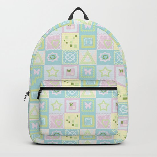 Delicate shades of baby pattern. Backpack