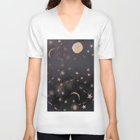 constellations V-neck T-shirts featuring Constellations  by dreamshade