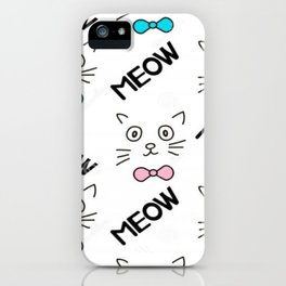 Cat Meow Meow iPhone Case
