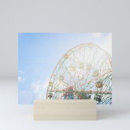 Take me for a ride on the Wonder Wheel Mini Art Print