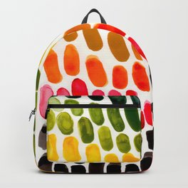 Colorful Rainbow Caribbean Tropical Palette Watercolor Stripes Abstract Watercolor Art Backpack