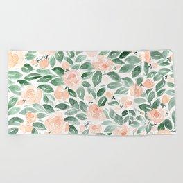 """Loose watercolor florals, """"Miriam"""" Beach Towel"""