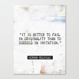 Herman Melville quote 2 Canvas Print