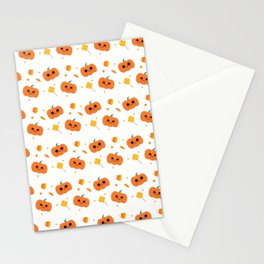 Halloween Pattern Stationery Cards
