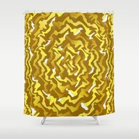 fabric Shower Curtains featuring Fabric P by Vitta