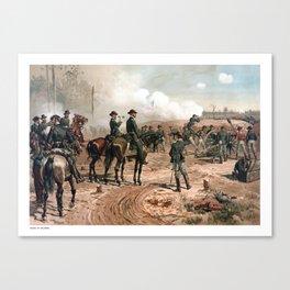 The Siege Of Atlanta -- Civil War Canvas Print
