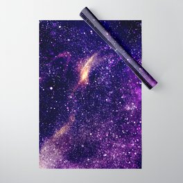 Ultra violet purple abstract galaxy Wrapping Paper
