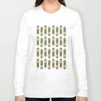 pineapples Long Sleeve T-shirts featuring Eat pineapples by Jan Luzar