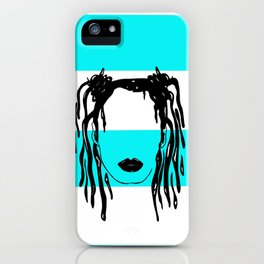 KamiLOCs (light blue) iPhone Case