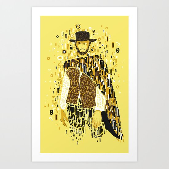 Klimt Eastwood Art Print