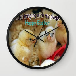Just Hanging with my Peeps Wall Clock