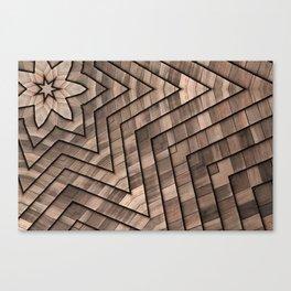 Wooden geometry Canvas Print