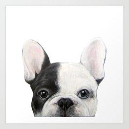 French Bulldog Dog illustration original painting print Art Print