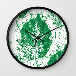 Leaves Mess Wall Clock