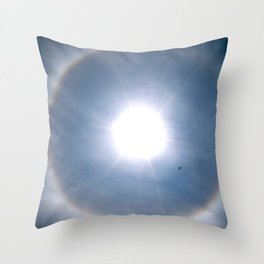 Rainbow Around the Sun Throw Pillow