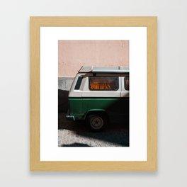 Green Van Road Trip Framed Art Print