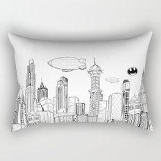 Gotham City Skyline Rectangular Pillow