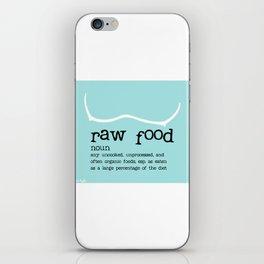 Raw Food iPhone Skin